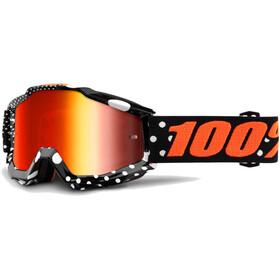 100% Accuri Anti Fog Mirror Goggles orange/sort